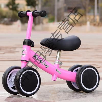 兒童平衡車1-3歲2寶寶滑行車溜溜車嬰兒學步車玩具扭扭車生日應學樂 粉色+升級款(普通座椅)