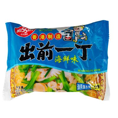 香港進口速食面 出前一丁方便面海鮮味袋裝100g 泡面拉面速食面