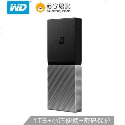 西部數據(WD)1TB Type-C移動硬盤固態(PSSD) My Passport SSD (小巧便攜 高速傳輸)