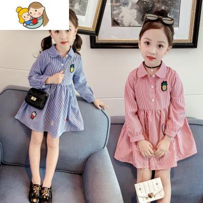 女童裝2兒童春款長袖3寶寶春季連衣裙4女寶薄款5襯衣2018新款6歲7