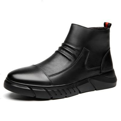 马丁靴男冬季新款加绒保暖高帮英伦风棉鞋中帮工装男鞋潮