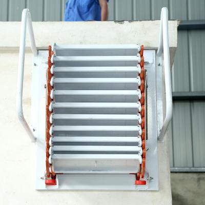 加厚壁挂式阁楼伸缩楼梯室内室外平台复式家用折叠升降收缩拉伸梯 铝镁合金2--2.3米