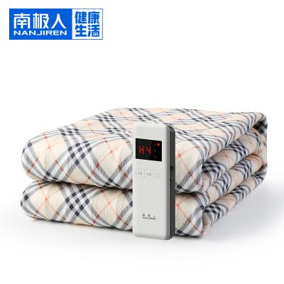 南極人(NanJiren)電熱毯 TK180*80-1X可自定溫定時 智能除螨 毛絨面料柔軟