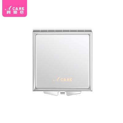 正方形鏡1個#Acare時尚化妝鏡便攜鏡女士隨身折疊小鏡子不銹鋼雙面鏡少女簡約