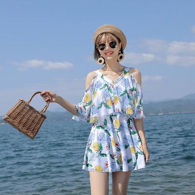 2020新款泳衣韓版女式分體泳衣保守沙灘美背古達泳衣女