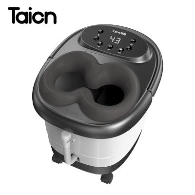 泰昌TC-11AZ6H足浴盆全自動按摩洗腳盆電動加熱泡腳器恒溫家用深桶足療機漏電保護溫度設定電動滾輪足浴盆