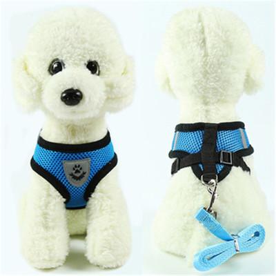 背心式牽引繩小狗狗胸背帶泰迪比熊狗狗繩子狗鏈子貓鏈寵物用品