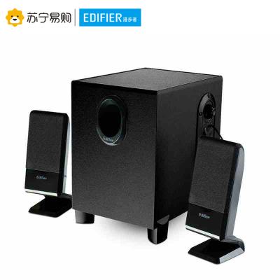EDIFIER/漫步者 R101V 筆記本音箱家用臺式2.1聲道迷你小音響重低音炮 黑色