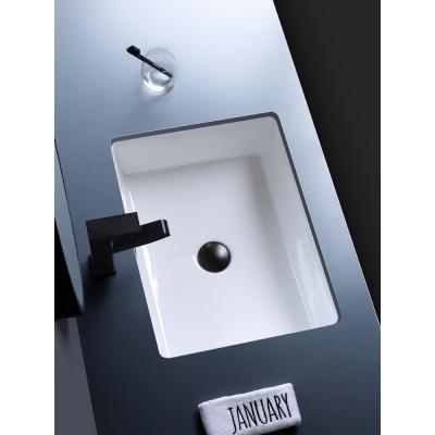 北歐嵌入式平底長方形陶瓷臺下盆CIAA大小尺寸浴室柜洗臉盆陽臺洗手盆