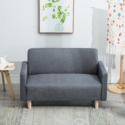 北欧布艺双人沙发小户型租房卧室单身公寓二三人两人小沙发服装店 灰色 188-5 小三人1.5米
