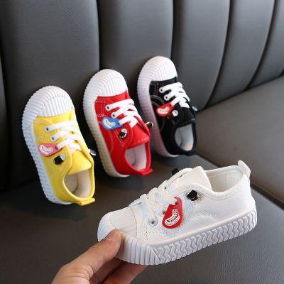童趣熊PLAYFUL BEAR 兒童春秋季帆布鞋男童女童小白鞋寶寶鞋幼兒園餅干鞋小童球鞋潮