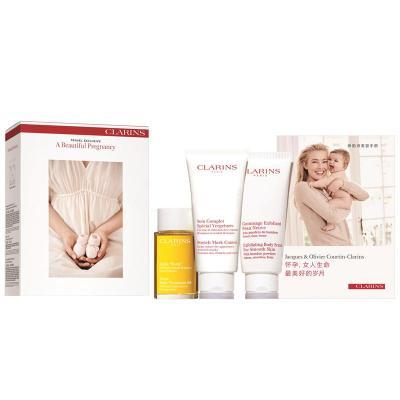 CLARINS嬌韻詩護膚套裝 美麗孕期護理套裝 (妊娠紋護理液 身體磨砂膏 撫紋霜三件套) 法國原裝進口