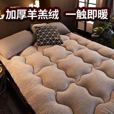納麗雅(Naliya)羊羔絨床墊軟墊被冬季加厚保暖床褥子租房專用榻榻米學生宿舍單人