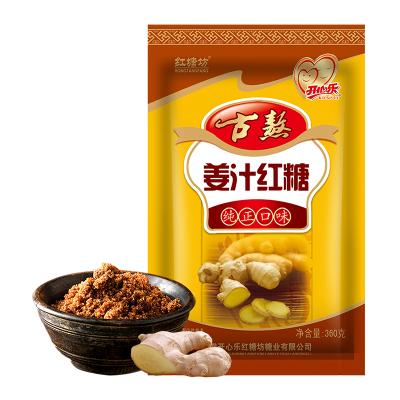 红塘坊姜汁红糖360g土红糖老红塘正宗农家手工食糖老姜茶姜汤