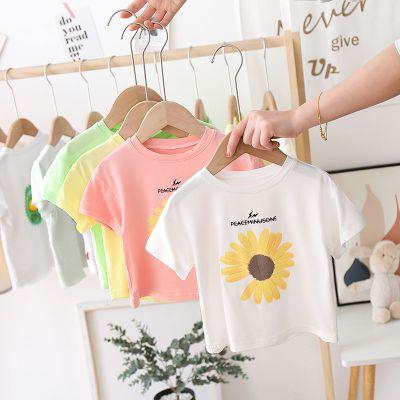 夏裝女童短袖T恤棉兒童半袖衫女寶寶上衣夏季體恤嬰兒打底衫潮