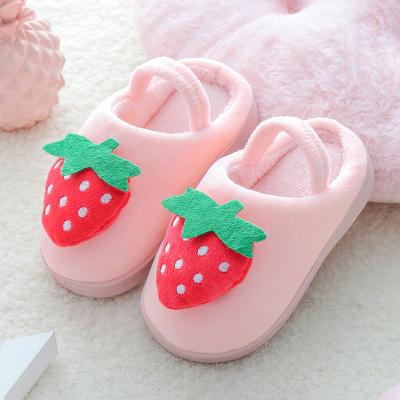 奔典品牌兒童棉拖鞋秋冬季卡通男童女童保暖包跟棉拖居家室內小童寶寶拖鞋