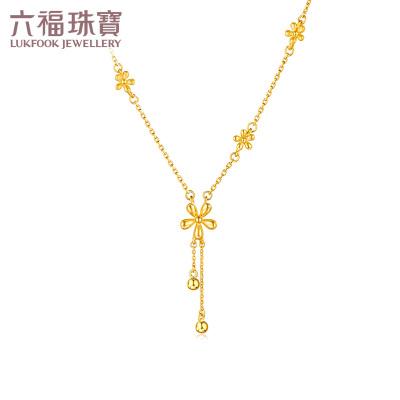 六福珠宝 足金套链小雏菊 黄金套链 项链含延长链计价HIG30070