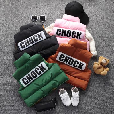 韩版儿童羽绒棉马甲男童女童立领棉背心秋冬加厚宝宝童装