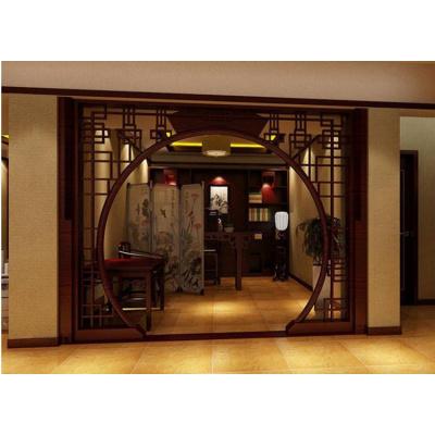 邁菲詩中式仿古實木花格拱形月洞月亮電視書房客廳背景墻玄關裝飾隔斷