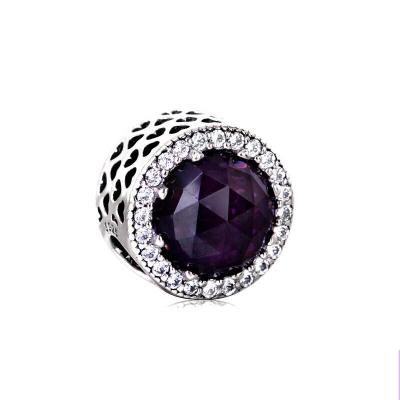 PANDORA潘多拉 紫色閃耀的心 925銀串飾 791725NRP