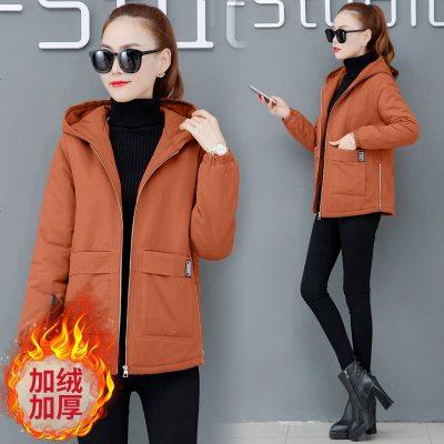 妈妈秋冬装外套女新款加厚棉衣气质风衣高贵中老年装夹克加绒卫衣