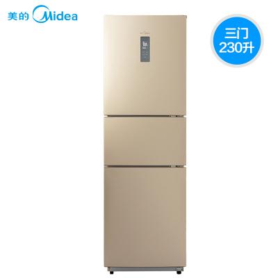 【官方授權優惠品】美的 BCD-230WTM(E) 230升冰箱 三門式小型 節能雙開門 風冷無霜 靜音省電
