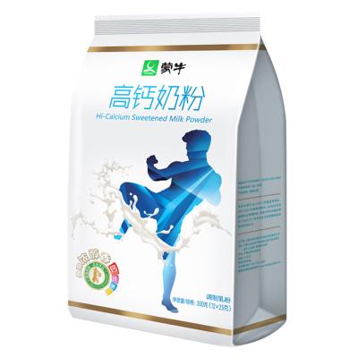 蒙牛(MENGNIU)高钙袋装牛奶粉300g 内含12小条袋装成人全家强化钙质