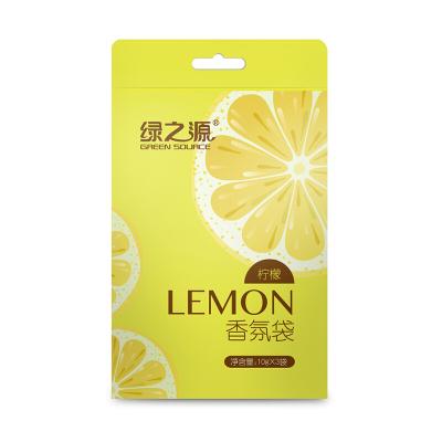 綠之源 (10g*3袋)檸檬香氛袋衣柜芳香劑室內精油香袋除味香包Z-0170