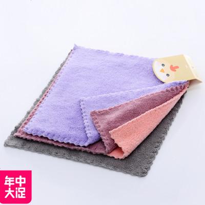 MLHJ 廚房加厚吸水抹布家務清潔布不沾油洗碗巾擦桌布絨毛巾擦