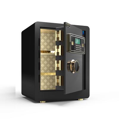 大一保險柜辦公入墻 高大型指紋保險箱家用45CM 防盜床頭柜保管箱辦公 新款全新鎖栓防撬