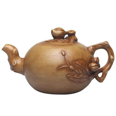 宜興紫砂壺手工仿老壺壽桃一粒珠原礦紫砂泥茶壺茶具手把泡沏茶壺