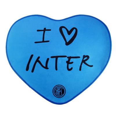 國際米蘭俱樂部Inter Milan心形簡約家用進門客廳防滑地毯