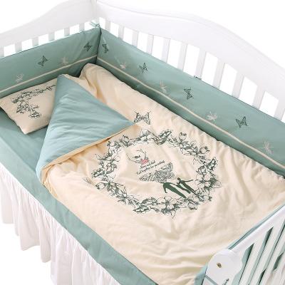龍之涵【LONGZHIHAN】 嬰兒床上用品床圍套件十件套 純棉初生兒寶寶被子雙被芯