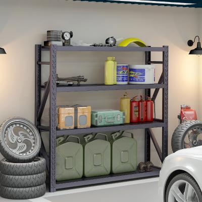 防潮黑色貨架家用多層儲物間儲藏室地下室置物架車庫鐵架子展示架