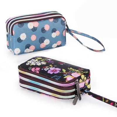 手拿包女士韩式长款钱包帆布零钱包女布艺手机包手拎小包