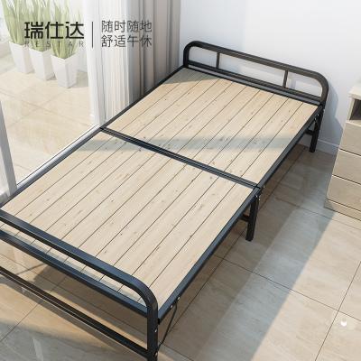 1m1.2米折叠床单人家用成人木板床简易铁架硬板出租用房板式经济型