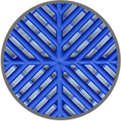 防盗网垫板阳台花架防护栏防盗窗放花防坠落家用窗台拼接塑料网格 蓝色