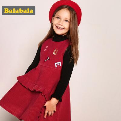 【1件5折】巴拉巴拉女童连衣裙秋冬宝宝裙子儿童公主裙A字背心裙外穿无袖潮