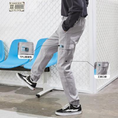 【1件3折价:139.8】美特斯邦威工装长裤男潮牌秋季新款潮流休闲男士修身束脚裤子