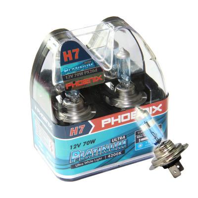 進口PHOENIX飛尼科斯超白金汽車燈泡 夜行者改裝車燈泡白光H7 UP 70W