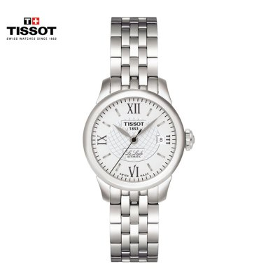 瑞士(TISSOT)天梭手表 力洛克系列 休閑簡約白盤鋼帶 機械表女士 T41.1.183.33