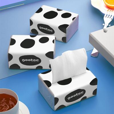 谷斑菁潤柔紙巾304張加厚4層1包裝裝細韌抽紙面巾紙柔軟4D潔面紙