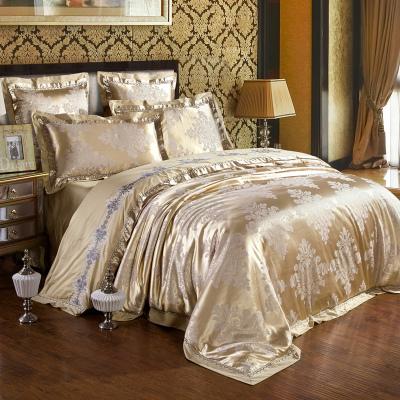 歐式高檔輕奢全棉提花宮廷4四件套結婚慶浪漫純棉6六件套床上用品