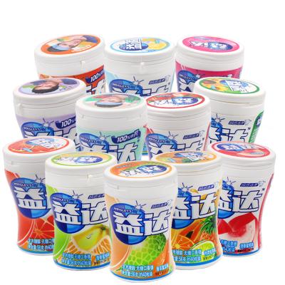 益達無糖口香糖約40粒*2罐木糖醇水果多口味瓶裝薄荷味休閑清新口氣