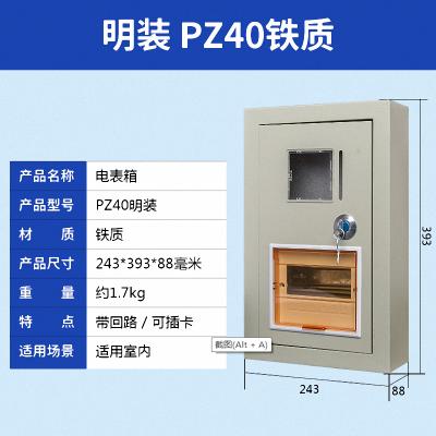 帮客材配 PZ40-6家用充电桩电表箱