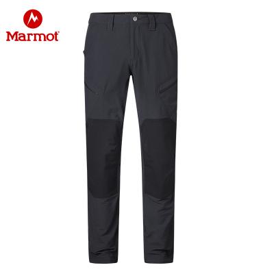 Marmot/土撥鼠戶外男士輕量彈力吸濕排汗軟殼褲
