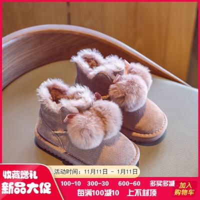 迪士尼官方同款冬季儿童雪地靴女童棉靴棉鞋加绒加厚雪地靴2019年冬季新款童鞋加绒加厚儿童棉鞋女孩秋冬穿的用的送人礼物