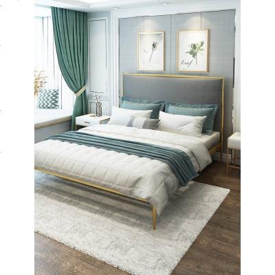 北欧铁艺床ins网红床1.5米铁床简约现代单双人床1.8米公主铁架床