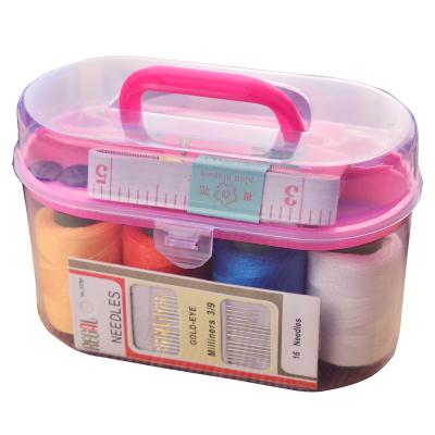 玖沫 便攜式家用大號針線盒針線包紙尺穿線器頂針縫補縫紉工具套裝