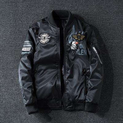 木林森(MULINSEN)男士外套棉衣户外夹克薄棉运动服经典复古飞行夹克两面穿B03